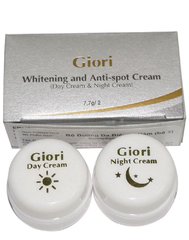 Bộ 2 Giori dưỡng siêu trắng da ngày và đêm