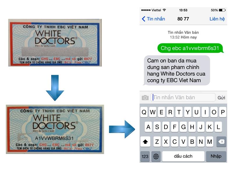 tem chống hàng giả white doctors