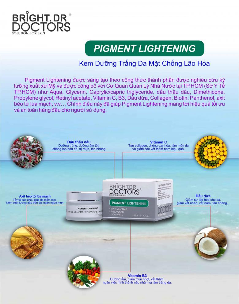 Kem Bright Doctors dưỡng trắng da ban đêm Pigment Lightening