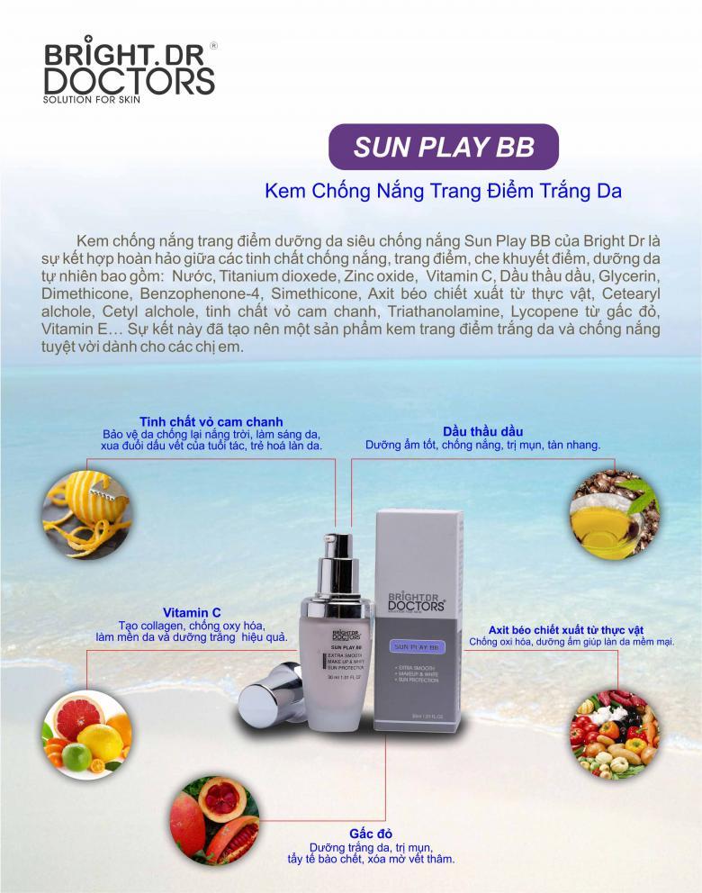 Kem Bright Doctors trang điểm chống nắng Sun play BB