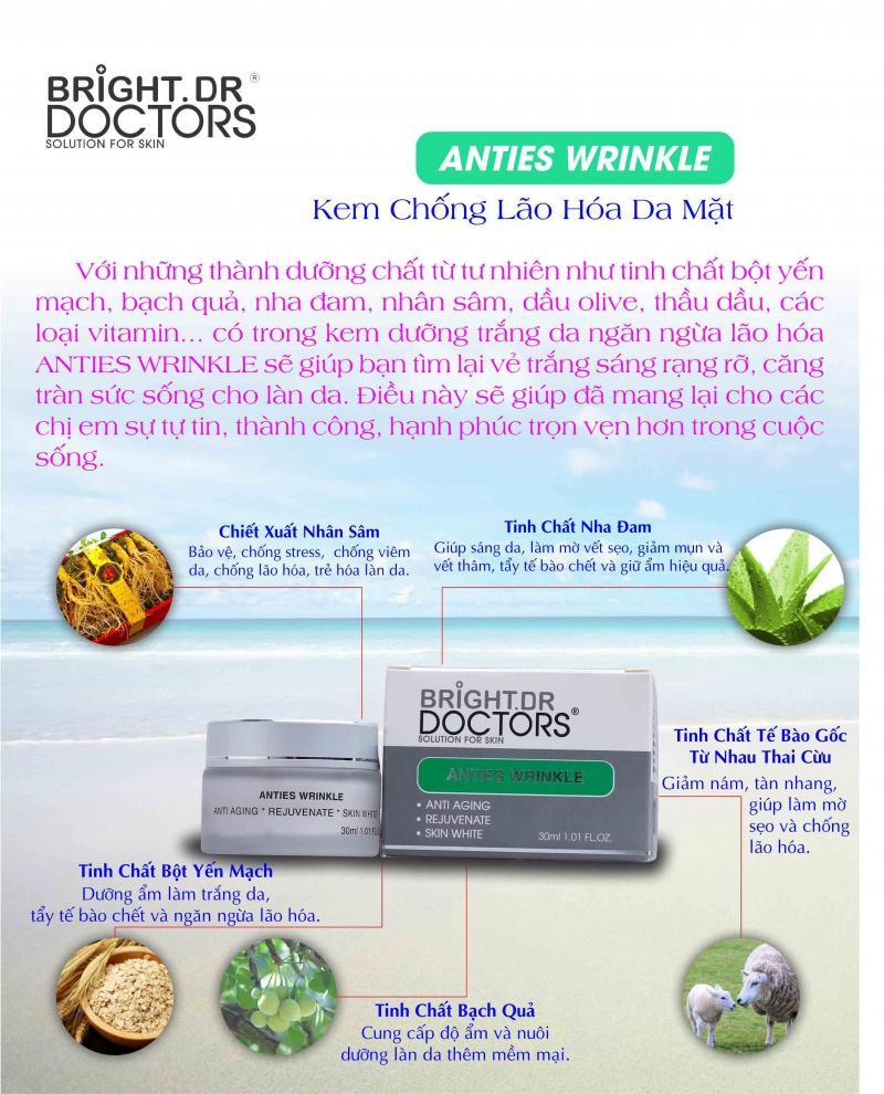 Kem dưỡng trắng da chống lão hóa Bright Doctors