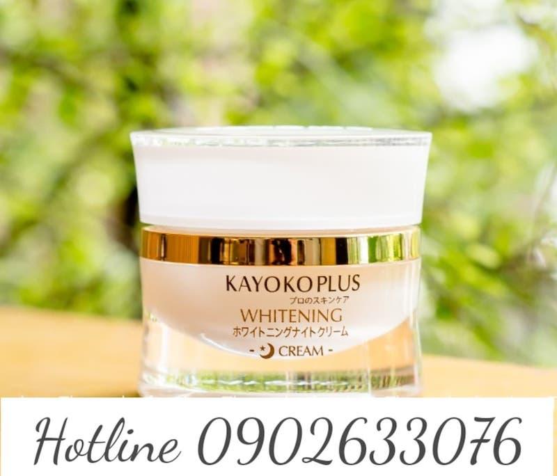 Kem Dưỡng Trắng Da Ban Đêm Kayoko Plus hiệu quả điều trị nám da tàn nhang dưỡng trắng da chống lão hoá, kem đêm Kayoko Plus là sản phẩn an toàn tuyệt đối cho mọi làn da dù cho da nhạy cảm