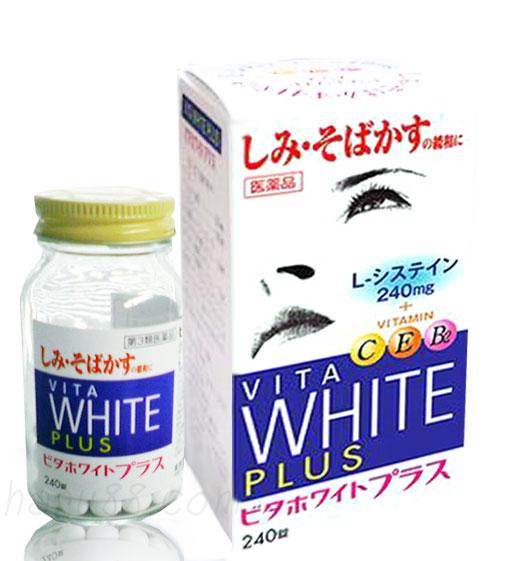 Viên uống trắng da từ bên trong Vita White Plus Nhật Bản