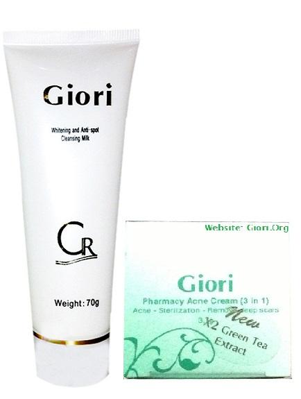 Bộ ngăn ngừa trị mụn, hết nhờn, nhỏ lỗ chân lông Giori